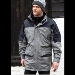 😎Columbia Double Whammy Gray/Black Coat M
